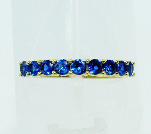 Anel De Ouro 18k750 Safira Azul 2311