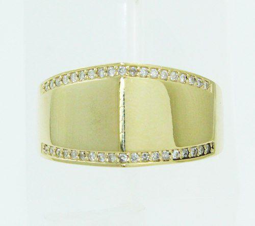 Anel De Ouro 18k750 Diamantes 2316