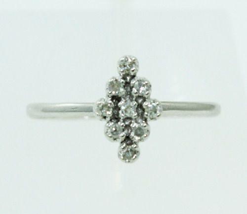 Anel De Ouro Branco 18k750 Diamantes 2317