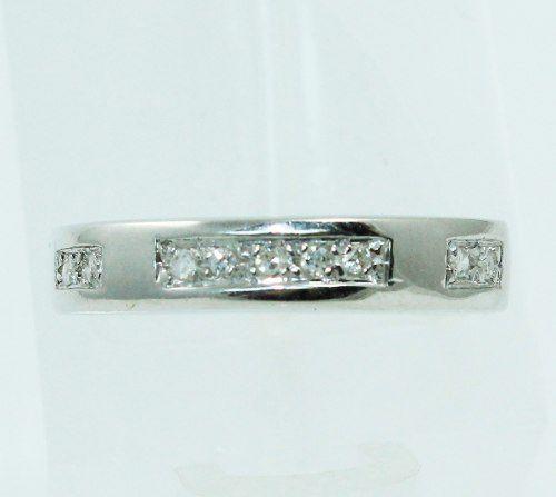 Anel De Ouro Branco 18k750 Diamantes 2319