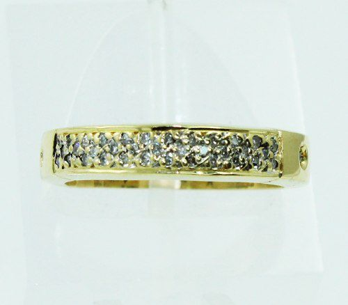 Anel De Ouro 18k750 Diamantes 2326