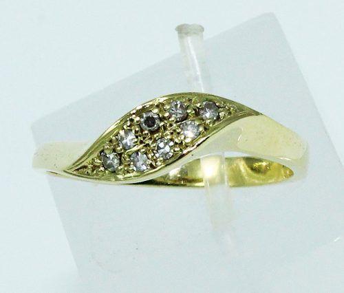 Anel De Ouro 18k750 Diamantes 1633