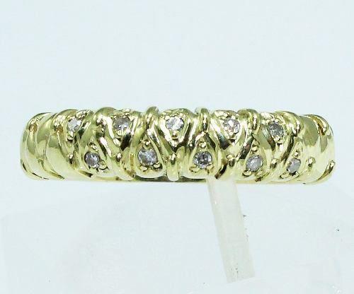Anel De Ouro 18k750 Diamantes 1614