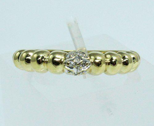 Anel De Ouro 18k750 Diamantes 1590