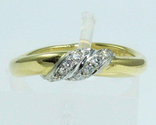 Anel De Ouro 18k750 Diamantes Grife 1571