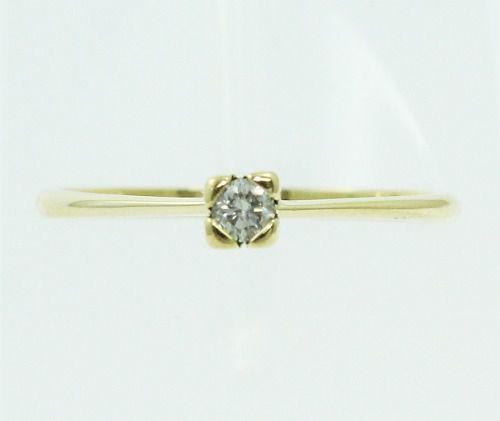 Anel De Ouro 18k750 Diamante 1568
