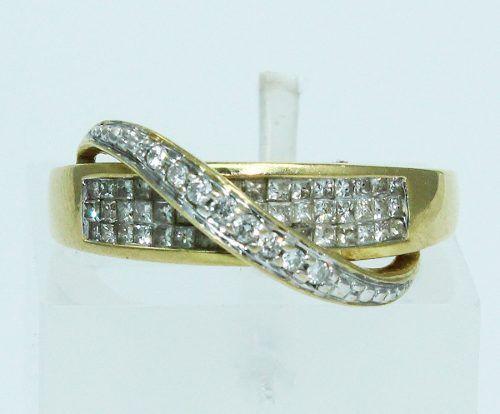 Anel De Ouro 18k750 Diamantes 1561
