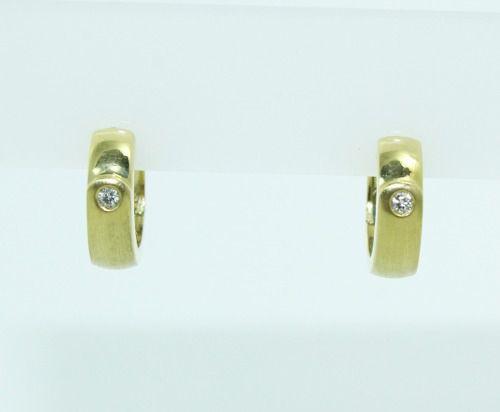 Brincos De Ouro 18k750 Diamantes B833
