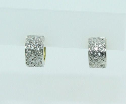 Brincos De Ouro 18k750 Diamantes B837