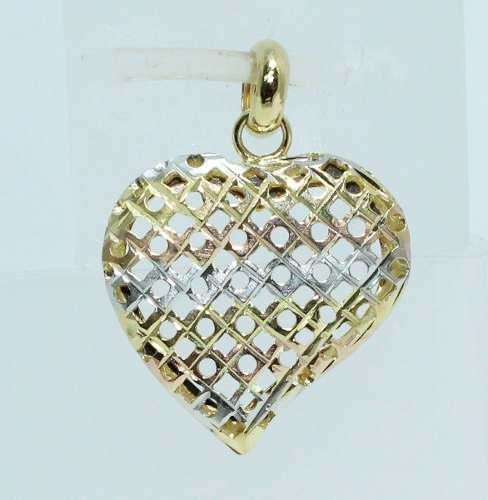 Pingente De Ouro 18k750 Coração P499