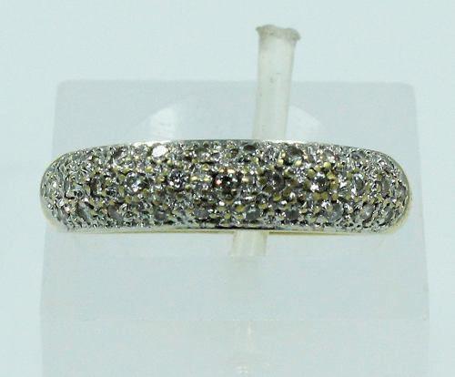 Anel De Ouro 18k750 Diamantes 1548