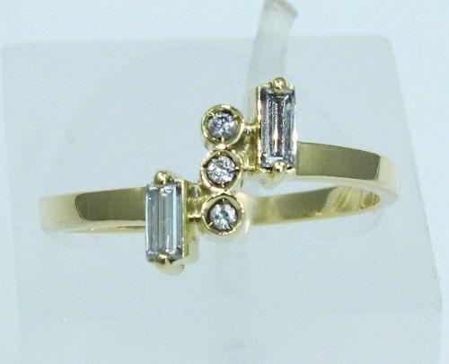 Anel De Ouro 18k750 Diamantes 1537