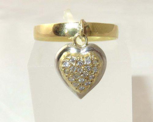 Anel De Ouro 18k750 Diamantes Pingente 1330