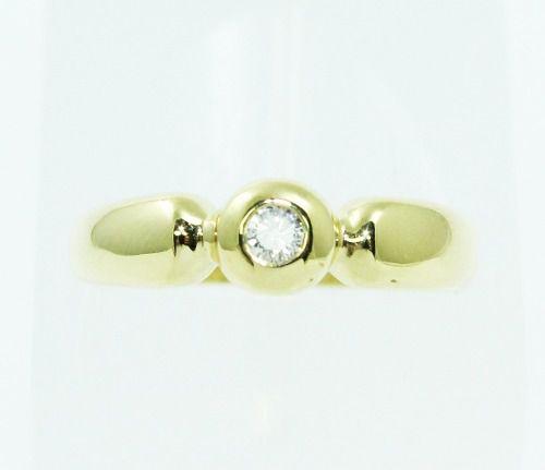 Anel De Ouro 18k750 Diamante 2348