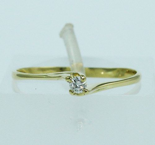 Anel De Ouro 18k750 Diamante 1519