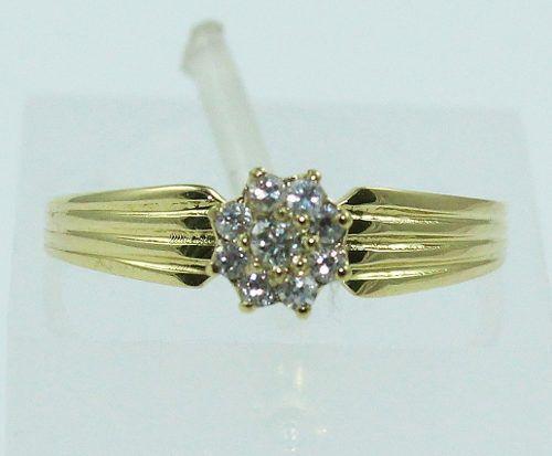 Anel De Ouro 18k750 Diamantes 1512