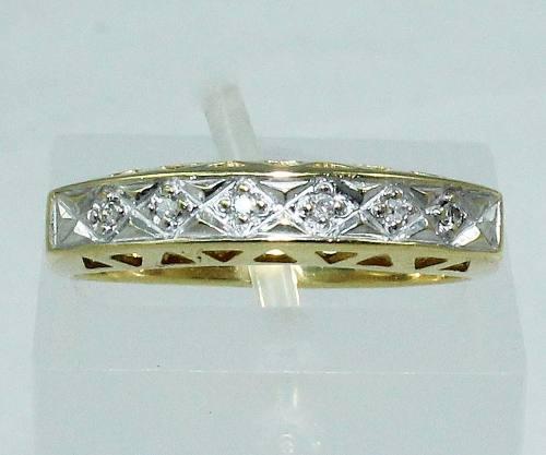 Anel De Ouro 18k750 Diamantes 1460