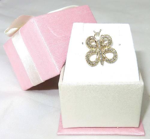 Pingente De Ouro 18k750 Diamantes Borboleta P310