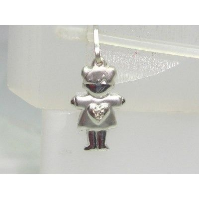 Pingente De Ouro Branco 18k750 Diamante P306