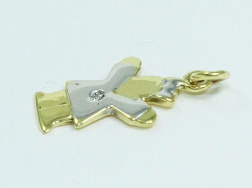 Pingente De Ouro 18k750 Bonequinha Diamante P300