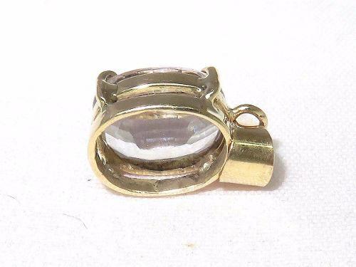 Pingente De Ouro 18k750 Quartzo P292