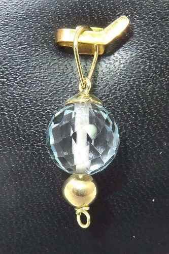 Pingente De Ouro 18k750 Topázio Azul P273