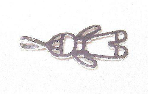 Pingente De Ouro Branco 18k750 Menino P267