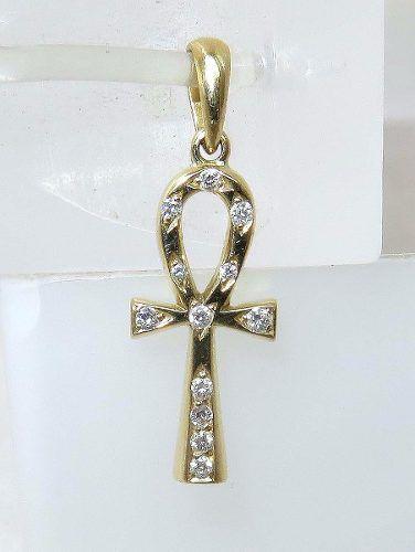 Pingente De Ouro 18k750 Cruz Diamantes P261