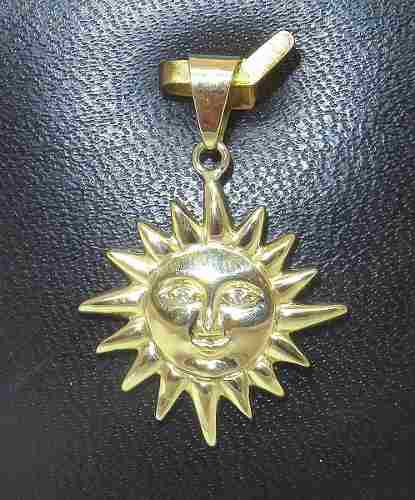 Pingente De Ouro 18k750 Sol Diamantes P260