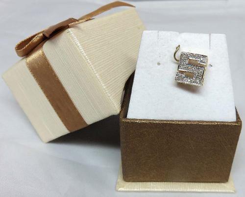 Pingente De Ouro 18k750 Letra S Diamantes P71