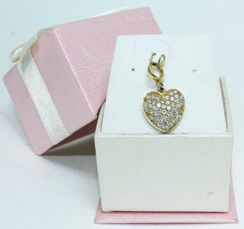 Pingente Ouro 18k750 Coração Pavê Diamantes P194