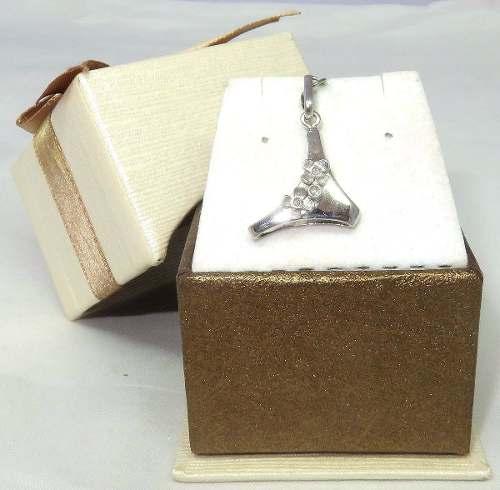 Pingente Ouro Branco 18k 750 Tanga Diamantes P216