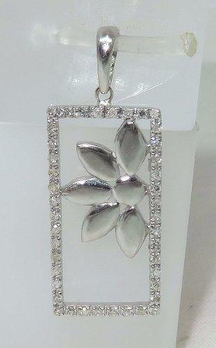 Pingente Ouro Branco 18k750 Diamantes P247
