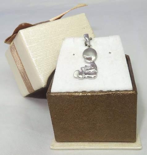 Pingente Ouro Branco 18k 750 Menino Diamante P220