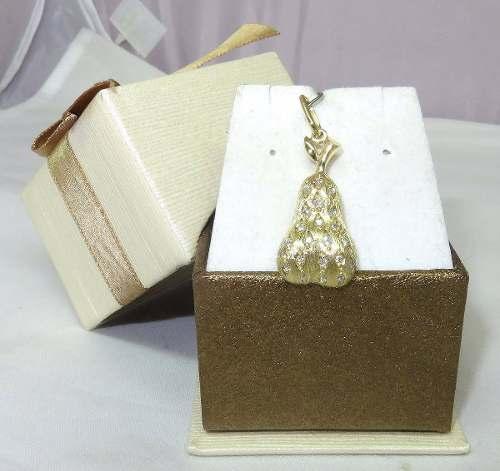 Pingente Ouro 18k750 Pêra Diamantes P199