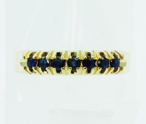 Anel De Ouro 18k750 Safiras Azuis 2372