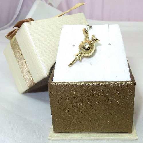 Pingente Ouro 18k 750 Pirulito Diamantes P211