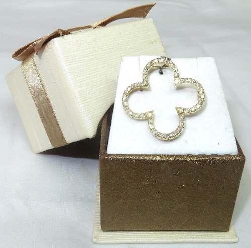 Pingente Ouro 18k750 Flor Diamantes P137