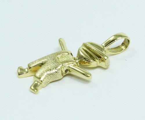Pingente De Ouro 18k750 Menino Menininho P20