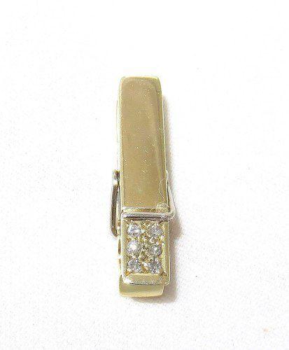 Pingente Ouro 18k750 Pregador Diamantes P235