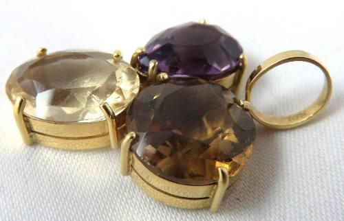 Pingente De Ouro 18k750 Pedras Diversas P164