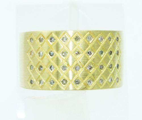 Anel De Ouro 18k750 Diamantes Vivara 2389