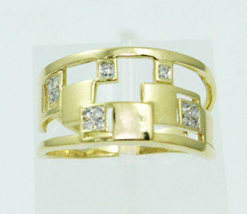 Anel De Ouro 18k750 Diamantes Vivara 2386