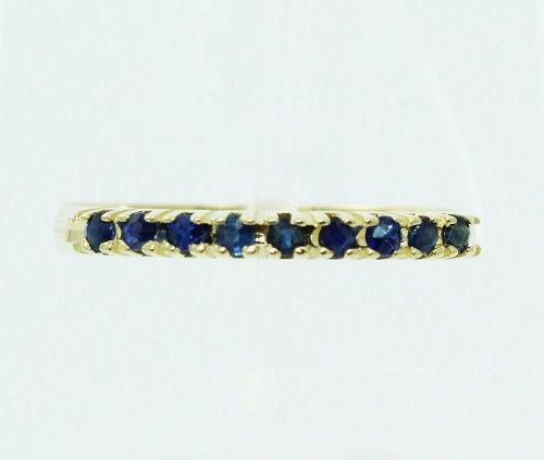 Anel De Ouro 18k750 Safira Azul 2381