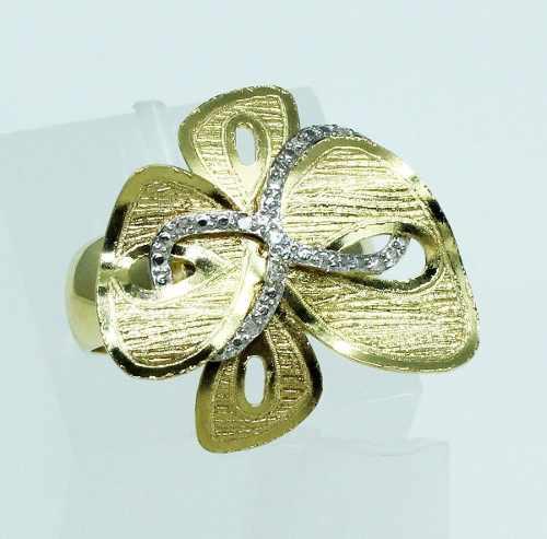 Anel De Ouro 18k750 Diamantes 1424