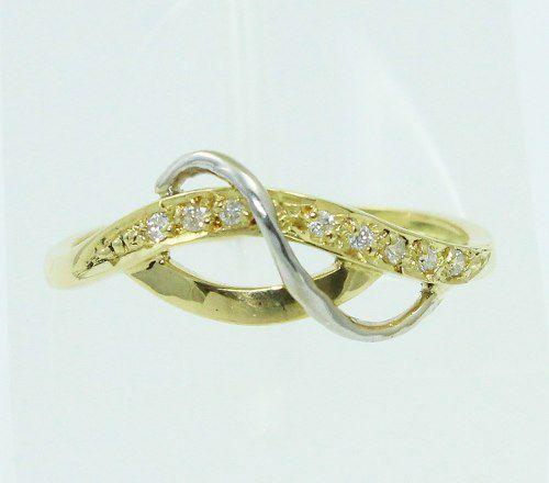 Um Anel De Ouro 18k750 Diamantes 63
