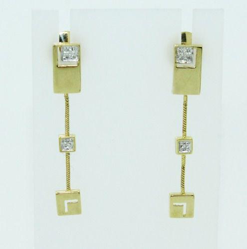 Brincos De Ouro 18k750 Diamantes Vivara B838