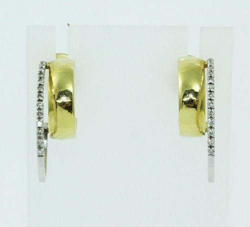 Brincos De Ouro 18k750 Diamantes Vivara B840