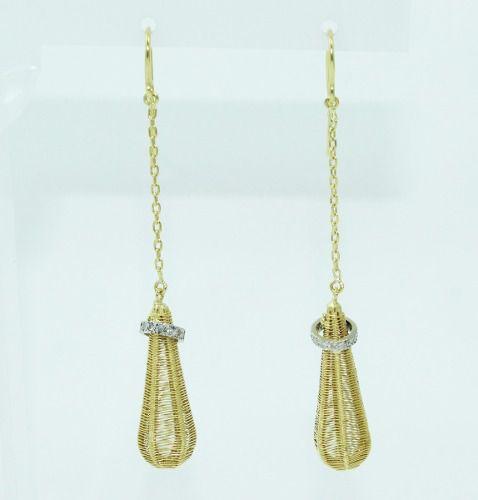 Brincos De Ouro 18k750 Diamantes Vivara B839