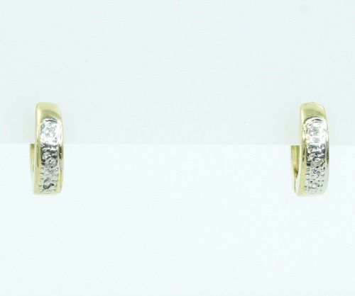 Brincos De Ouro 18k750 Diamantes B766